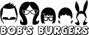 Bob's Burgers Family Silhouette - Vinyl 7 Inches (Color: Black) Decal Laptop Tablet Skateboard Car Windows Sticker