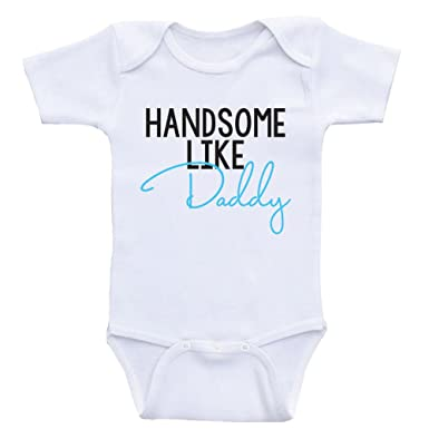e9bc234dcaf3 Amazon.com: Heart Co Designs Baby Boy Clothes Handsome Like Daddy One-Piece  Baby Clothes for Boys: Clothing