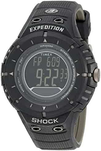 Timex Men's T49928DH Expedition Rugged Digital Compass Shock Black Resin Strap Watch