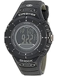Men's T49928DH Expedition Rugged Digital Compass Shock Black Resin Strap Watch