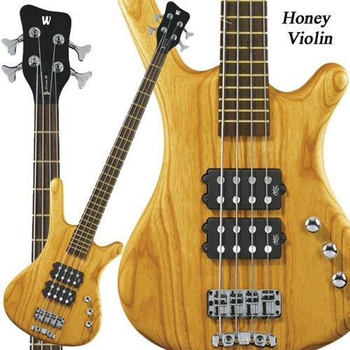Rockbass 1584380505CPASHAWW Corvette 4 Honey Violin Fretted