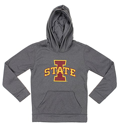 Outerstuff NCAA Big Boys Youth Pullover Grey Hoodie (8-18), Iowa State Cyclones (Iowa State Sweatshirt Youth)