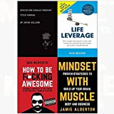 img - for Discipline equals freedom[hardcover], life leverage, how to be f*cking awesome, mindset with muscle 4 books collection set book / textbook / text book