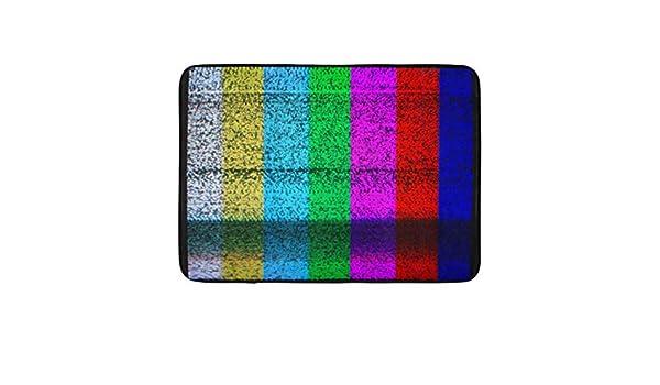 ECNM56B Tapetes de baño Alfombras de baño Tapete de Puerta Color estático TV Sin señal Pantalla Prueba Prueba de Ruido Antena de Video 15.8