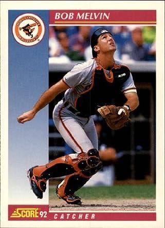 Amazoncom 1992 Score Baseball Card 208 Bob Melvin Collectibles