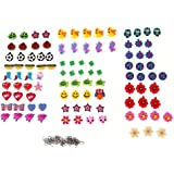 Tinksky A Set of 100pcs Mixed Pretty Cute Dolls Pendants Charms for DIY Rainbow Loom Rubber Bands Bracelets (Random...