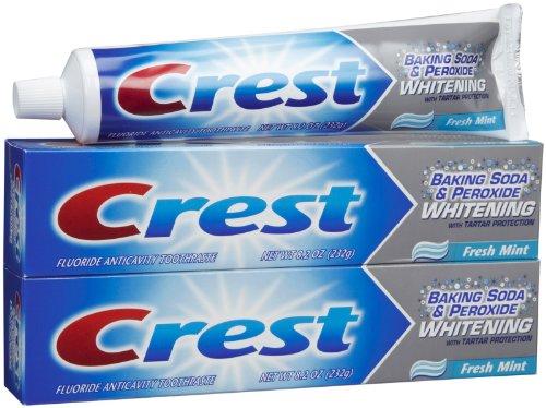 Crest Whitening Toothpaste - 8.2 oz - 2 pk (Toothpaste Baking Crest Soda)