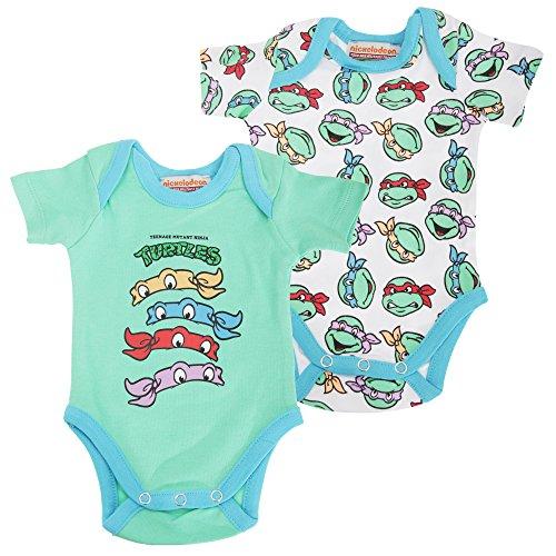 [Teenage Mutant Ninja Turtles Official Baby Boys Short Sleeve Cotton Bodysuit (0-3 months)] (Turtles Suit)