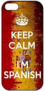 Keep Calm I'm Spanish, Spain Flag, iPhone 4/4S Premium Hard Plastic Case, Cover, Aluminium Layer, Quote, Quotes, Motivational, Inspirational, Theme Shell by supermalls
