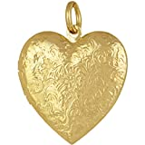 Lifetime Jewelry Antique Heart Locket Necklace That Holds Pictures 24k Gold Plated with Lifetime Replacement Guarantee