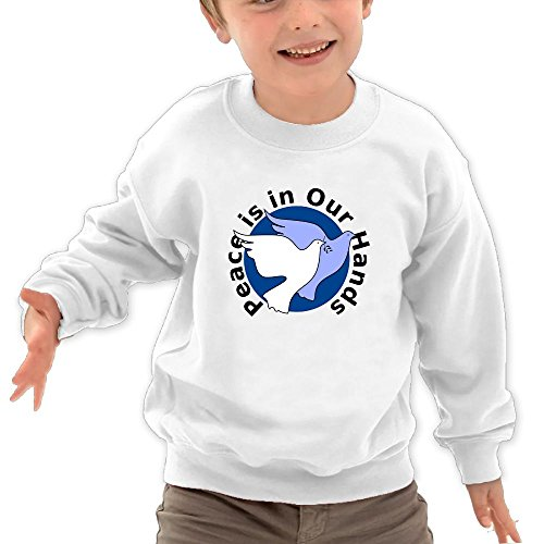 Honxjsnz Peace In Our Hands Toddler Girls&Boys Lovely Warm Round Neck Sweatshirt 4 Toddler (Maxi Rick Rack)