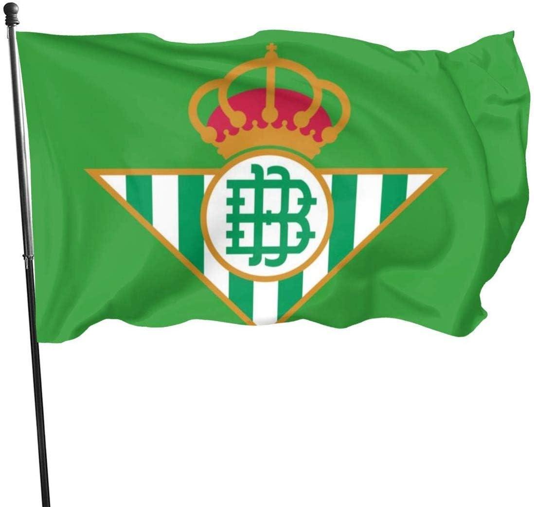 LONGJIN Banderas Real Betis 3x5 Foot Flag Outdoor Flags 100% Single-Layer Translucent Polyester 3x5 Ft: Amazon.es: Jardín