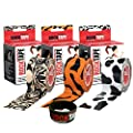 RockTape Kinesiology Tape for Athletes, 3-Rolls Combo Pack (Tattoo/Tiger/Cow)