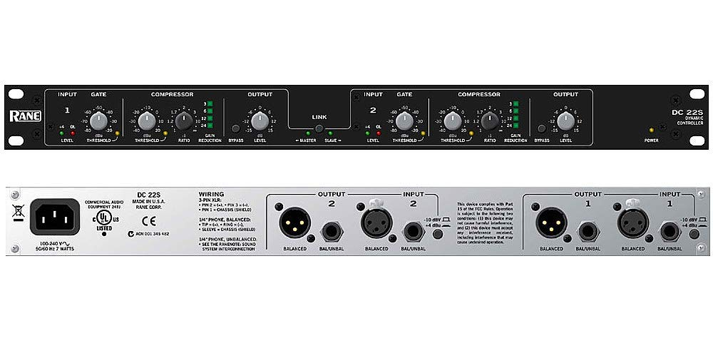 Rane DC22 2 Channel Compressor