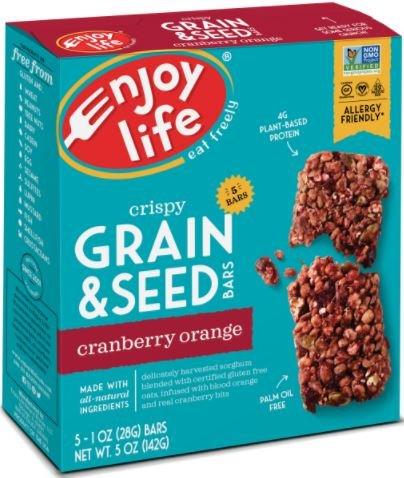 Enjoy Life Foods - Crispy Grain & Seed Bars Cranberry Orange - 5 Pack