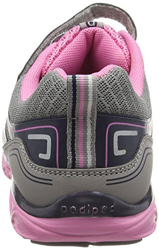 PediPed Force - Zapatillas de running Niñas Silver (Silver Navy)