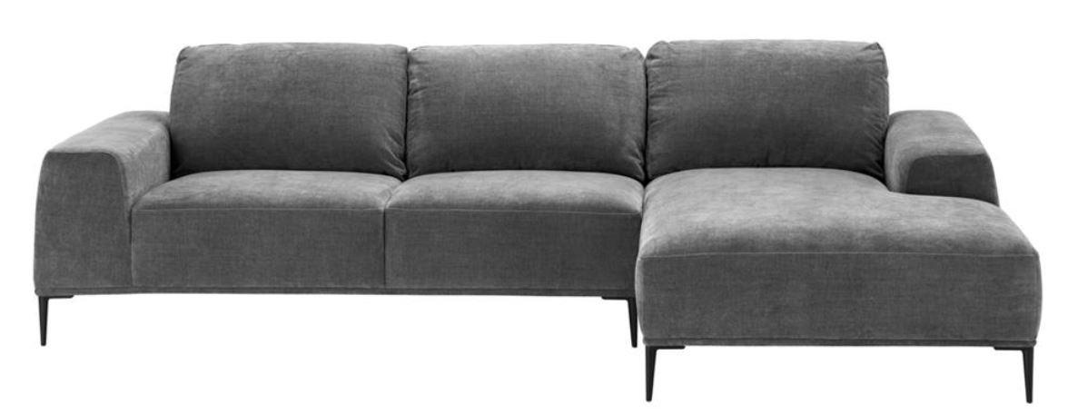 Casa-Padrino sofá esquinero salón de Lujo Gris/Negro 285 x ...