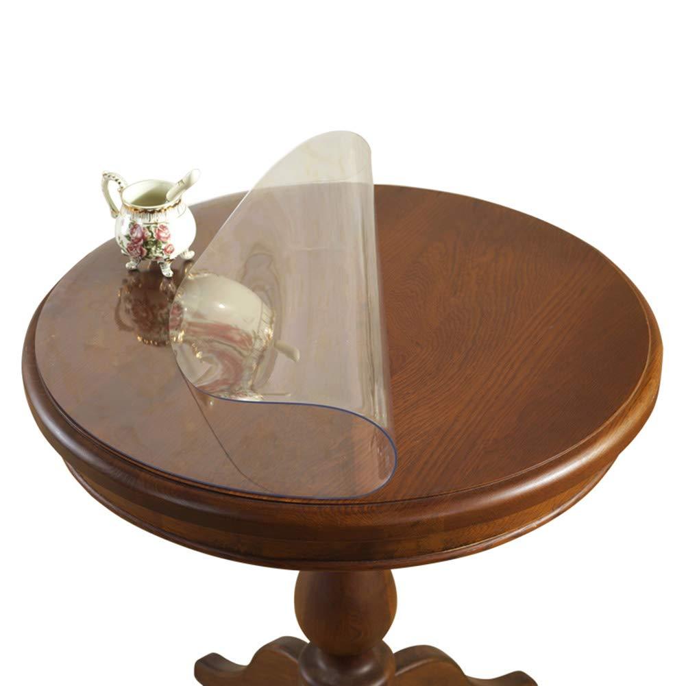 ラウンドテーブルテーブルクロスシンプルな透明な柔らかいガラスのデスクトップ保護フィルムPVCクリスタル防水とoilproofテーブルマット,3.0MM,150CM 150CM 3.0MM B07RWBLGY1