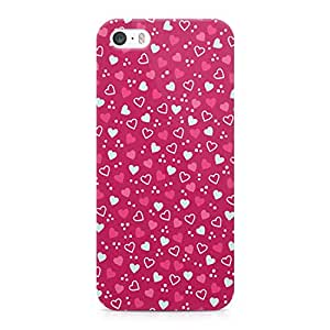 Loud Universe Cute Valentine Pattern Pretty Hearts For Her Durable Sleek Wrap Around iPhone 5s Case - Pink