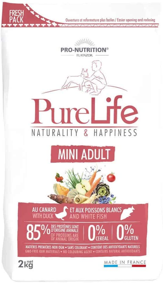 Pro Nutrition flatazor – Pure Life Mini adulto 2 kgs: Amazon.es: Productos para mascotas