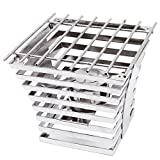 TableTop king 1715 Escalate Series 10'' x 10'' x 9'' Stainless Steel Eight Rung Riser with Cooking Grate and Sterno