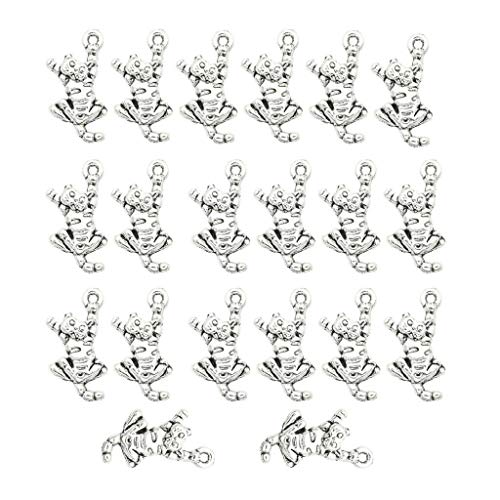 20PCS Vintage Zinc Alloy Kitten Charm for Jewelry Making DIY Key Pendants Necklace Jewelry Crafting Key Chain Bracelet Pendants Accessories Best ()
