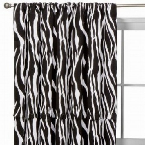 Xhilaration Zebra Stripe Window Panel Pretty Black & White