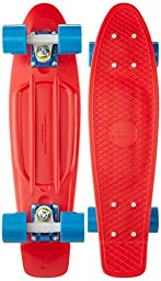 Penny Complete Skateboard, 22-Inch, Red/White/Cyan