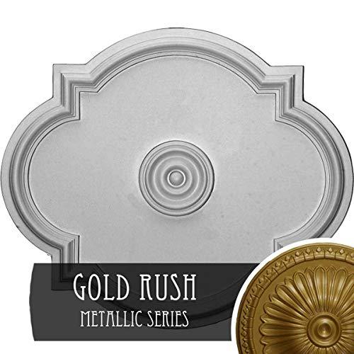 (Ekena Millwork CM24WAGLS Waltz Ceiling Medallion, Gold)