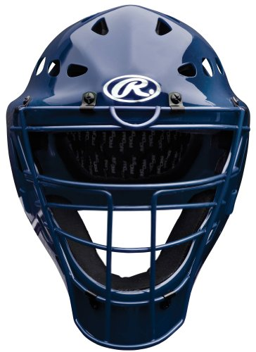 Coolflo Hockey Style Catchers Helmet (Rawlings Catchers Mask (Navy, 9 1/8 to 7 3/4-Inch))