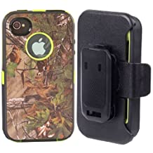 IPHONE 4 4S : Tough Grass Camo Shockproof Dirtproof Defender Case Cover