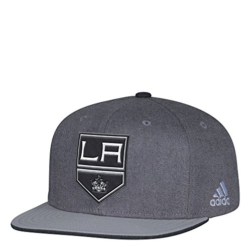 fan products of NHL Los Angeles Kings Adult Men Pro Authentic Travel & Training Snapback, One Size, Gray