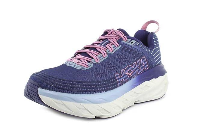 HOKA ONE ONE Womens Bondi 6 Marlin/Blue Ribbon Running Shoe - 8.5 Best Breathable Mesh Running Shoes for Women