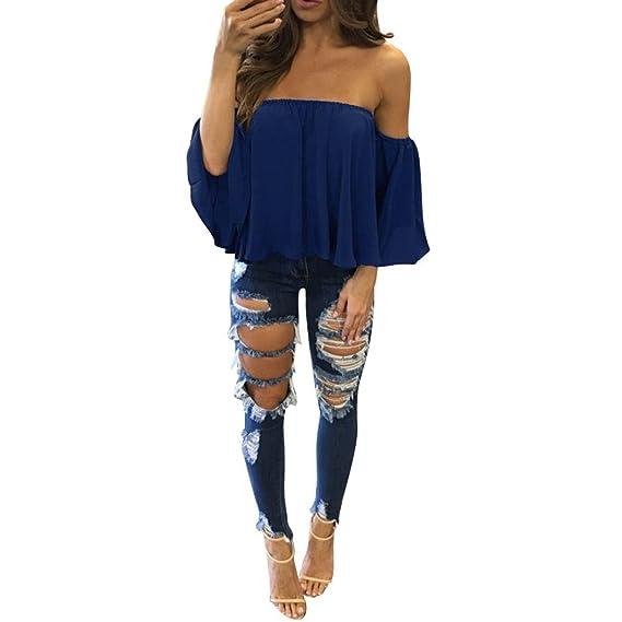 Lunaanco Camiseta para Mujer,Mujer Blusa Mujer Ropa Mujer Sexy Vestidos Chaleco Camisetas Vestidos De