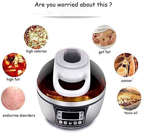 10L heteluchtfriteuse 1300 W 4 kookvoorinstellingen met timer en volledig instelbare temperatuurregeling voor gezond olievrij vetarm koken bakken en grillen