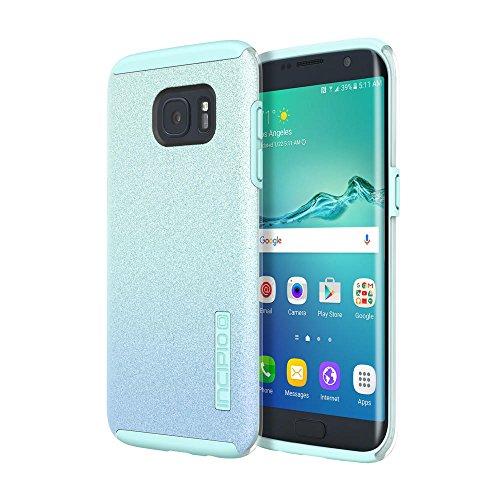 Samsung Galaxy S7 Edge case, Incipio DualPro Glitter, [Design Series] Shock-Absorbing Impact-Reistant Dual-Layer Cover - Turquoise