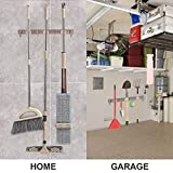 Piyl Broom Mop Holder Wall Mount Metal Tool
