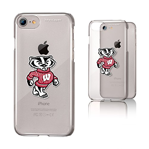 (Keyscaper Wisconsin Badgers Clear Case for the iPhone 6/6S/7/8 NCAA)