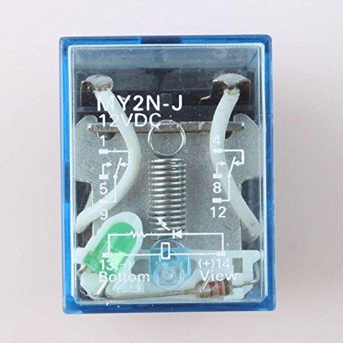 New 8pin 2NO 2NC MY2NJ MY2N-J 5A DC12V DPDT Coil Power Relay