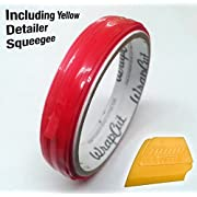 VViViD Wrap Cut 32ft (10M) Vinyl Wrap Edge Cutting Detailer Tape (3 Rolls + Squeegee)