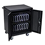 Luxor / H. Wilson LLTM42-B 42 Tablet / Chromebook Charging Cart - 28 3/4'' x 22 1/2'' x 36 3/4''