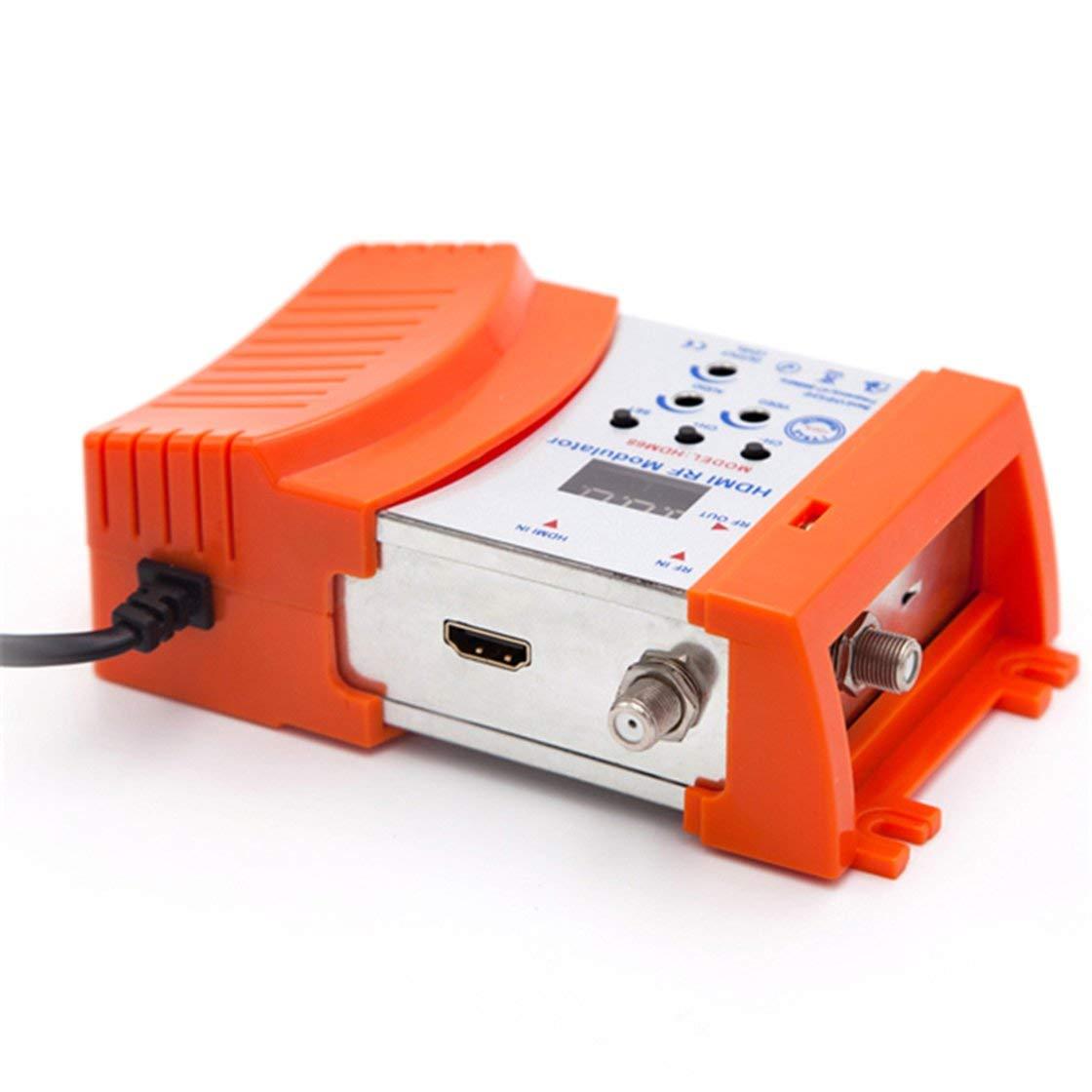 Modulador HDM68 RF Digital Modulador HDMI Convertidor AV a RF VHF UHF PAL//NTSC Modulador port/átil est/ándar