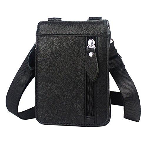 Zhhlaixing Mens Womens De las mujeres Slim Mini Cross Body Backpack Shoulder Cycling Bag Waist Bag Christmas Halloween Black