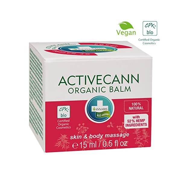 Annabis Activecann – 15ml – Organic Hemp Balm for Massage of The Skin in The Area of Joints, Tendons, Muscles and Back