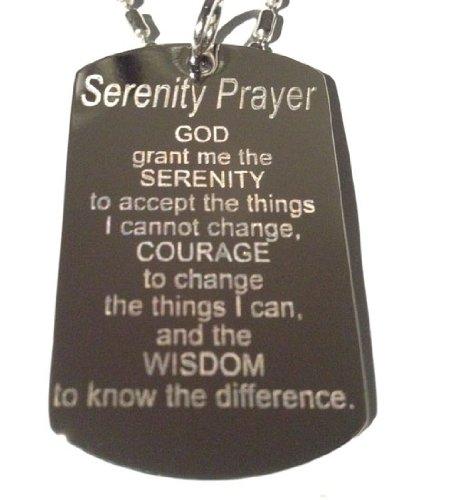 Dog ID Holy Serenity Prayer Christian Christ Religion Rel...