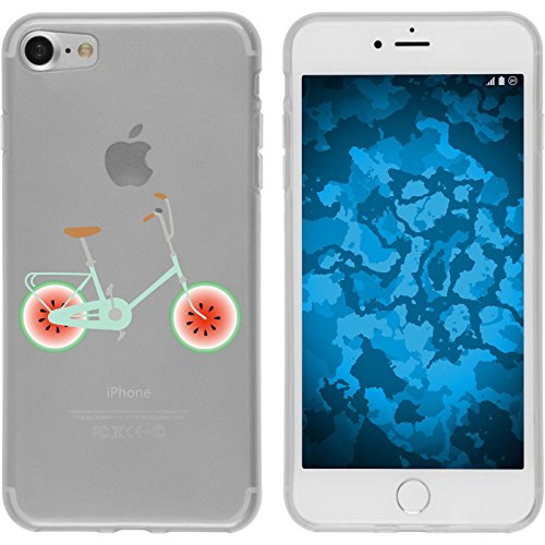 PhoneNatic Case für Apple iPhone 7 Silikon-Hülle Bike M3 Case iPhone 7 Tasche + 2 Schutzfolien