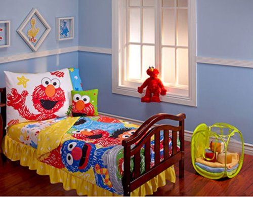 Sesame Street Scribbles 10-piece Toddler Bedding Set (Elmo Sheets Toddler)