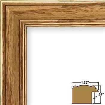 10x13 picture poster frame wood grain finish 125 wide honey oak 59504100