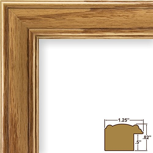 Craig Frames 59504100 8 by 10-Inch Picture Frame, Wood Grain Finish, 1.25-Inch Wide, Honey Oak