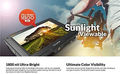 H7 LILLIPUT H7S 7 Moniteur Ultra Luminosit/é sur Cam/éra avec 3G-SDI et HDMI 4K R/ésolution Full HD 4K HDMI LCD Visible /à la lumi/ère du Soleil